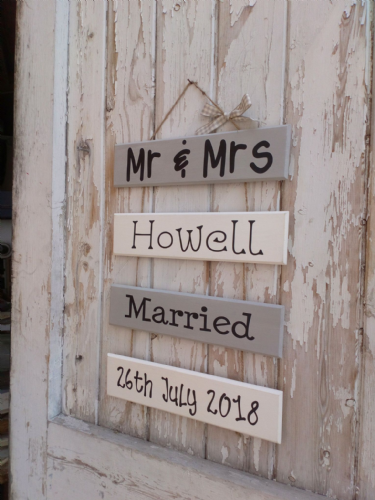 Mr & Mrs Personalised Keepsake Ladder Plaque